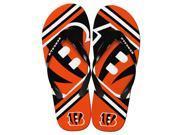 Cincinnati Bengals NFL Unisex Big Logo Flip Flops Medium W 9 10 M 7 8