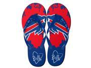 Buffalo Bills NFL Womens Paint Splatter Flip Flops Small 5 6