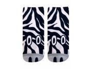 Zebra Photo Print Ankle Socks