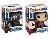 Captain America Civil War POP Vinyl Figure Bundle: Black Panther & Scarlet Witch 9SIA01978C0228