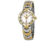 Tag Heuer Link Silver Guilloche Dial Steel and Gold Ladies Watch WAT1450.BB0955