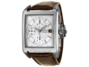 Maurice Lacroix PT6197-SS001-130 Men's Watch - Stainless Steel Case, Brown Leather Strap
