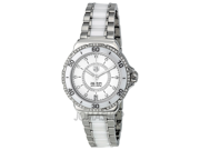 Tag Heuer Formula 1 Diamond Steel and White Ceramic Ladies Watch WAU2213.BA0861