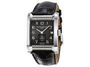 Baume et Mercier Hampton Milleis Black Dial Leather Mens Watch MOA10027