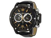 Akribos XXIV Conqueror AK469BK Men's Black Dial Leather Chronograph Watch