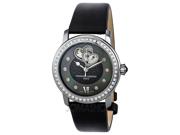 Frederique Constant Ladies Automatic Diamond Black Dial Watch FC-310BDHB2PD6
