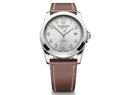 Victorinox Swiss Army Infantry Silver Dial Brown Leather Mens Watch 241566