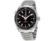 Omega Plant Ocean Big Size Black Dial Automatic Steel Mens Watch 23230462101003