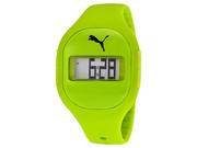 Puma Fuse Digital Dial Lime Green Silicone Unisex Watch PU910921006