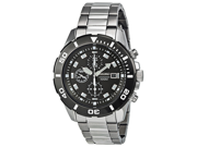 Seiko SNDD99 Chronograph Stainless Steel Case and Bracelet Black Tone Dial