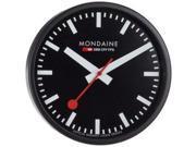 Mondaine Black Dial Black Frame Wall Clock A990CLOCK64SBB