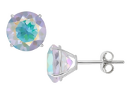 4 1/2 Carat Opal Topaz 14K White Gold Stud Earrings