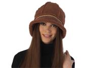 Luxury Lane Women's Genuine Shearling Bucket Hat - Tobacco