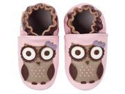Momo Baby Infant/Toddler Soft Sole Leather Shoes - Spotted Owl Pink