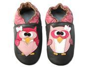 Momo Baby Infant/Toddler Soft Sole Leather Shoes - Pretty Owl Brown