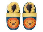 Momo Baby Infant Toddler Soft Sole Leather Shoes Mighty Lion Navy