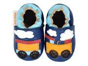 Kimi Kai Kids Soft Sole Leather Crib Bootie Shoes Choo Choo Train