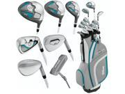 Wilson Ladies Profile XLS Full Set RH Standard 11 Clubs + 1 Cart Bag NEW