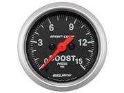 AutoMeter 3350 Sport-Comp Electric Boost/Vacuum Gauge
