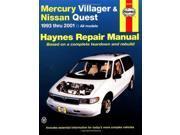 Haynes Fits Mercury Villager and Fits Nissan Quest: 1993 Thru 1998 (Haynes Autom 9SIV04Z5SM8143