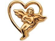 CleverSilver's 14K Yellow Gold Angel Lapel Pin 0 9. 0 0X 0 9. 0 0 Mm