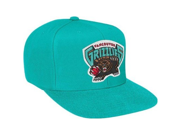Vancouver Grizzlies Mitchell & Ness Vintage Basic Logo Teal Snap Back Hat