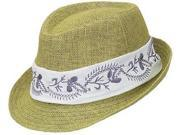 Peter Grimm Lucia Fedora Hat, Green