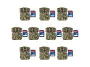 (10) Moultrie No Glow Invisible Mini IR Trail Game Cameras w/ 16GB SD Cards thumbnail