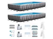 Intex 32' x 16 x 4.3 Ultra Frame Above Ground Swimming Pool Set & Pump (2 Each)
