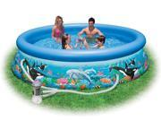 "Intex 10' x 30"" Ocean Reef Easy Set Swimming Pool & Pump"