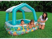 INTEX Sun & Shade Inflatable Kids Swimming Pool with Canopy