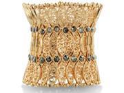 Antique Style Extra Wide Rose Tone Filigree Stretch Cuff Bracelet