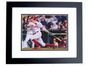 Hunter Pence Autographed Philadelphia Phillies 8X10 Photo Black Custom Frame 9SIA1Z053A5851