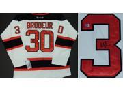 Martin Brodeur Autographed New Jersey Devils Authentic White Reebok Jersey 9SIA1Z00ZE8874