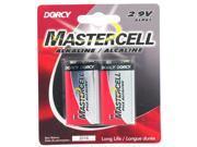 Dorcy 41-1611 2 Count 9 Volt Mastercell Alkaline Battery