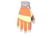 Custom Leathercraft 128M Clc Hivisibility Gloves, Medium