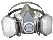 3m 52P71PC1-B Respirator Half Face Medium Paint Spray and Pesticide Disposable