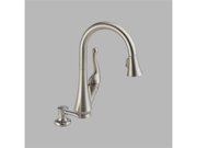 Delta 16968-SSSD-DST Talbott Stainless Single Handle Pull-Down Kitchen Faucet wi