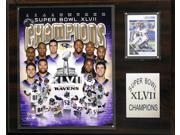 C and I Collectables 1215SB47 NFL Baltimore Ravens 12 x 15 Super Bowl XLVII Cham 9SIA62V4SF1478