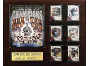 C and I Collectables 1620SB46NY NFL New York Giants Super Bowl XLVI 16 x 20 Cham 9SIA62V4SF2926