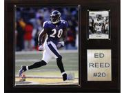 C and I Collectables 1215EDREED NFL Ed Reed Baltimore Ravens Player Plaque