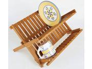 Lipper International 8813 Bamboo Folding Dishrack
