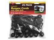 Keeper 06345 8-Inch Canopy Bungee Cords with Toggle Balls - 25 Pack