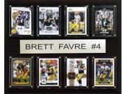 C and I Collectables 1215FAVRE8C NFL Brett Favre Minnesota Vikings 8 Card Plaque 9SIA62V4SF1156