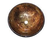 "Kingston Brass EVSPFB7 Fauceture Palermo 16-1/2"" Diameter Round Vessel Glass Sin"