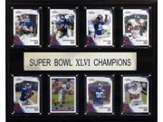 C and I Collectables 1215SB46NYG8C NFL New York Giants Super Bowl XLVI 8 Card Ch 9SIA62V4SF1276
