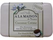 A La Maison 1172220 Bar Soap Coconut Creme 8.8 Oz