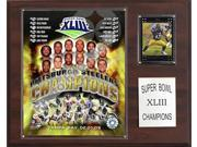 C and I Collectables 1215SB43 NFL Steelers Super Bowl XLIII Champions Plaque 9SIA62V4SF1086
