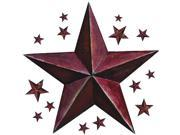 RoomMates RMK2197GM Barn Star Peel and Stick Giant Wall Decal Burgundy