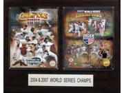 C and I Collectables 1620BRSWS2 MLB Boston Red Sox 2004 and 2007 Champions 16 x